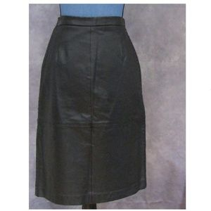 NWT Terry Lewis Classic Luxuries Leather Skirt 6P